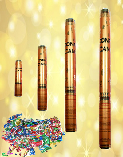 3-Count Party Confetti Poppers