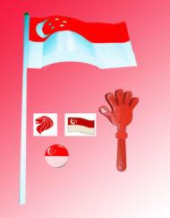 Singapore Mini Flag | Mini Waving Flag Singapore | Singapore